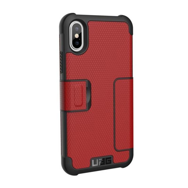 UAG Metropolis iPhone X/Xs Folio Case Magma Red / Crimson Red 04