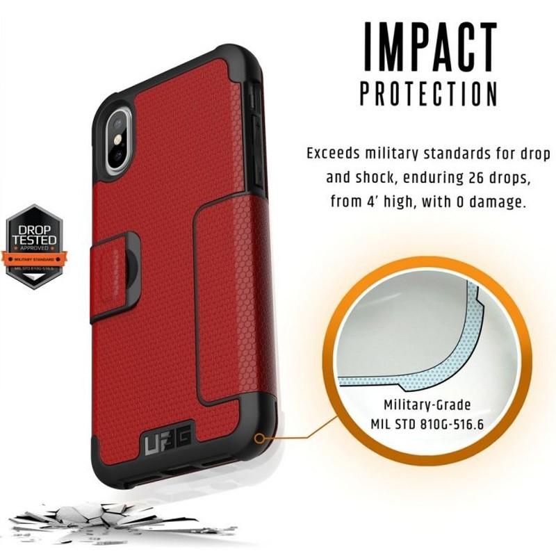 UAG Metropolis iPhone X/Xs Folio Case Magma Red / Crimson Red 06
