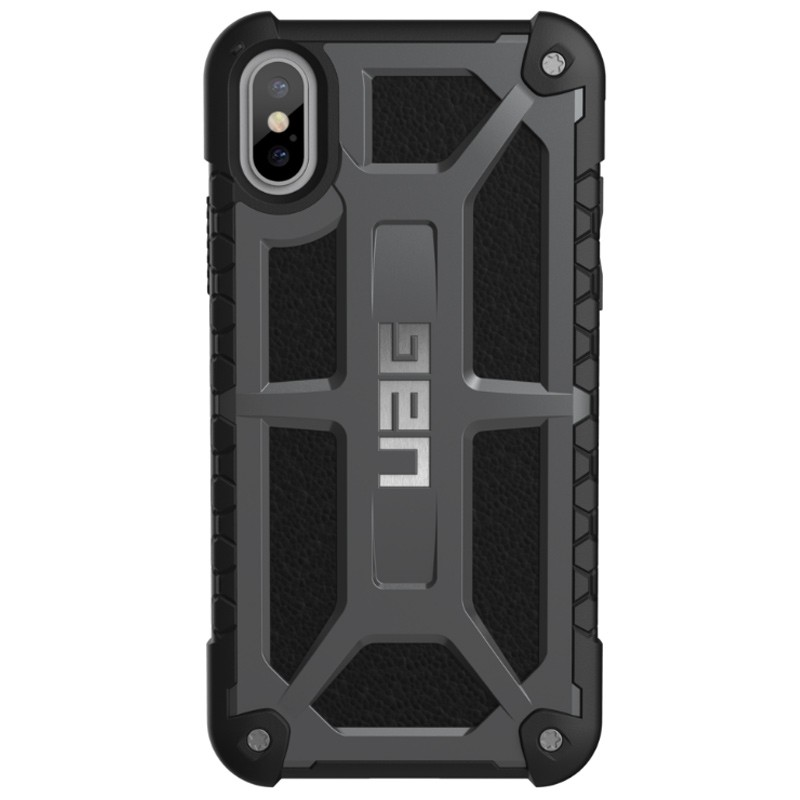 UAG - Monarch iPhone X/Xs Hoesje Graphite Black 01