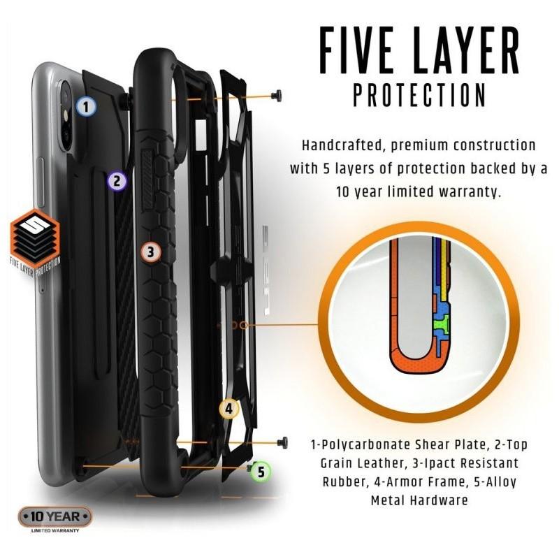 UAG Monarch iPhone X/Xs Hoesje Carbon Black 07