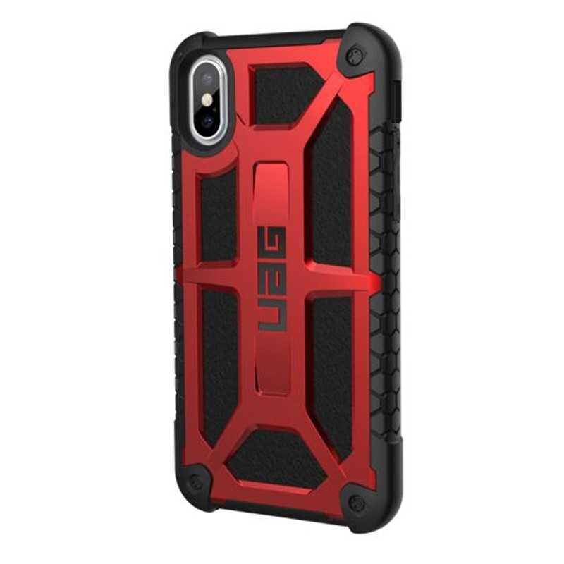 UAG Monarch iPhone X/Xs Hoesje Crimson Red / Black 02