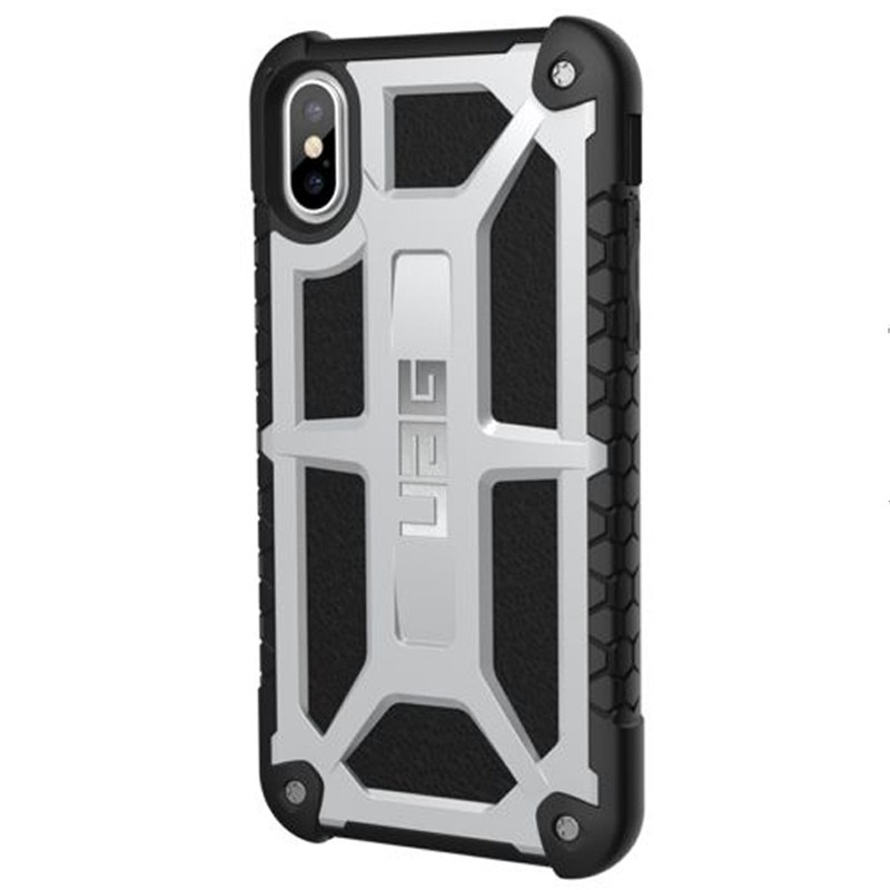 UAG Monarch iPhone X Hoesje Platinum Platina 02
