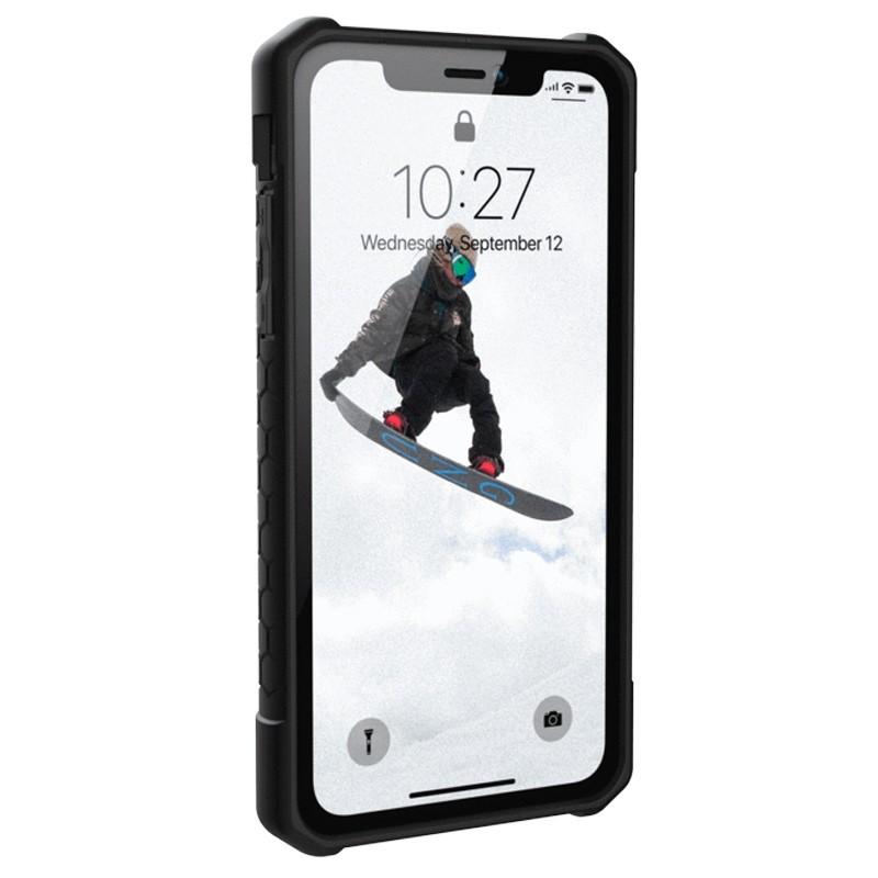UAG Monarch iPhone XR Hoes Rood Zwart 02