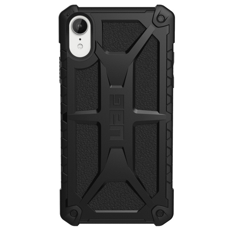 UAG Monarch iPhone XR Hoes Zwart 01