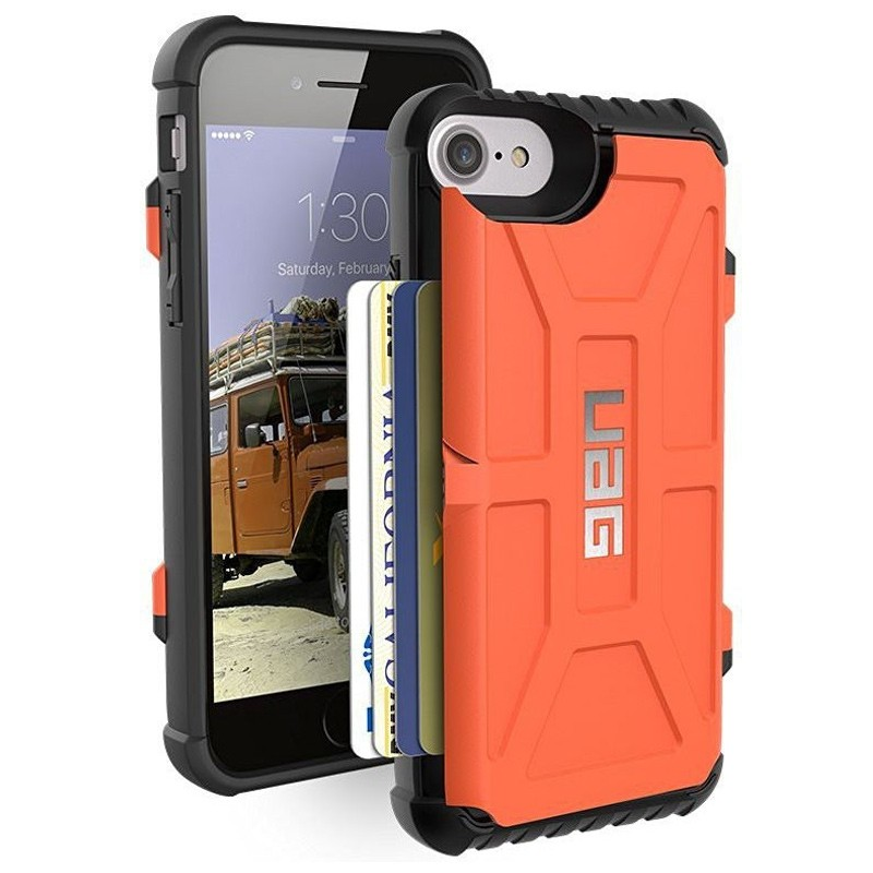 UAG - Trooper iPhone 6 / 6S / 7 hoesje met pasjes Rust Orange 02