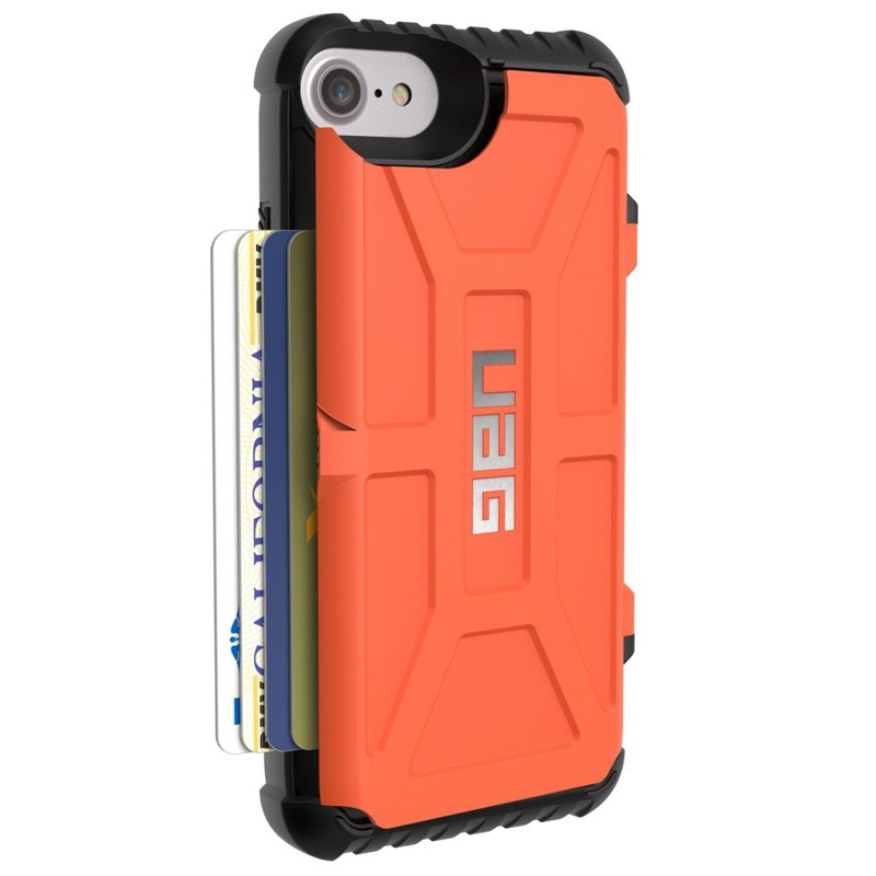 UAG - Trooper iPhone 6 / 6S / 7 hoesje met pasjes Rust Orange 06