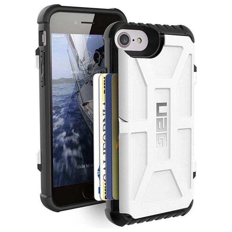 UAG - Trooper iPhone 6 / 6S / 7 hoesje met pasjes wit 02