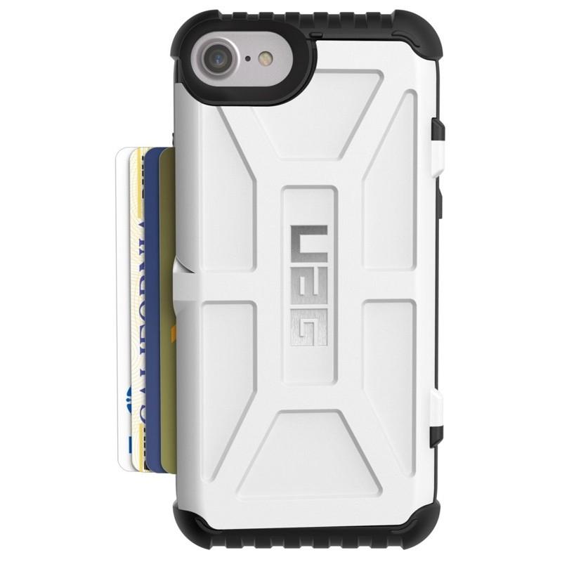 UAG - Trooper iPhone 6 / 6S / 7 hoesje met pasjes wit 01