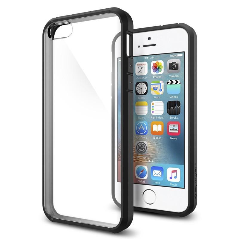 Spigen Ultra Hybrid Case iPhone SE / 5S / 5 Black - 4