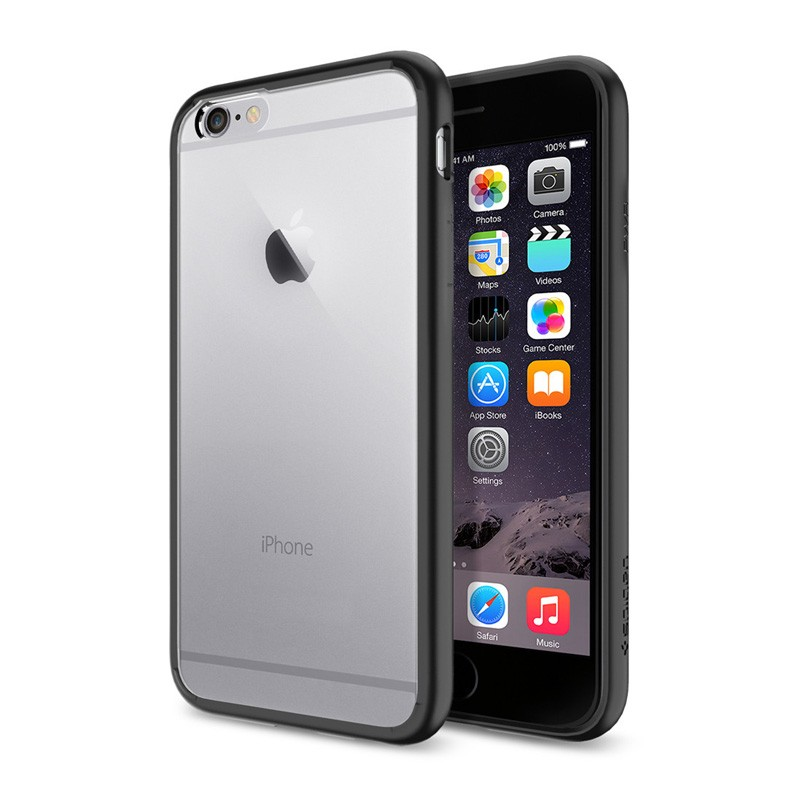 Spigen Ultra Hybrid Case iPhone 6 Black - 1