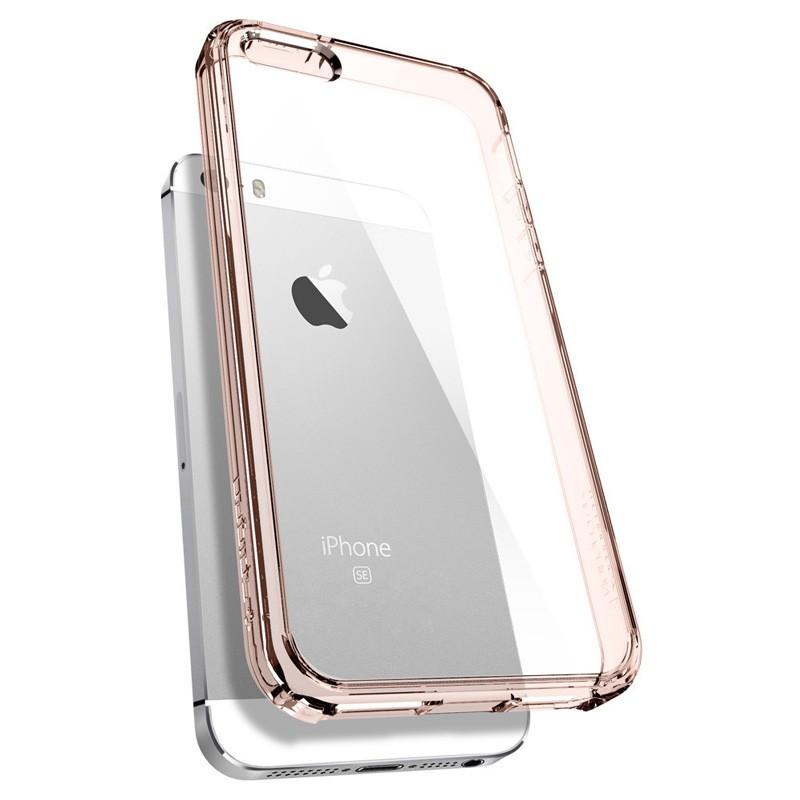 Spigen Ultra Hybrid Case iPhone SE / 5S / 5 Rose Gold - 5
