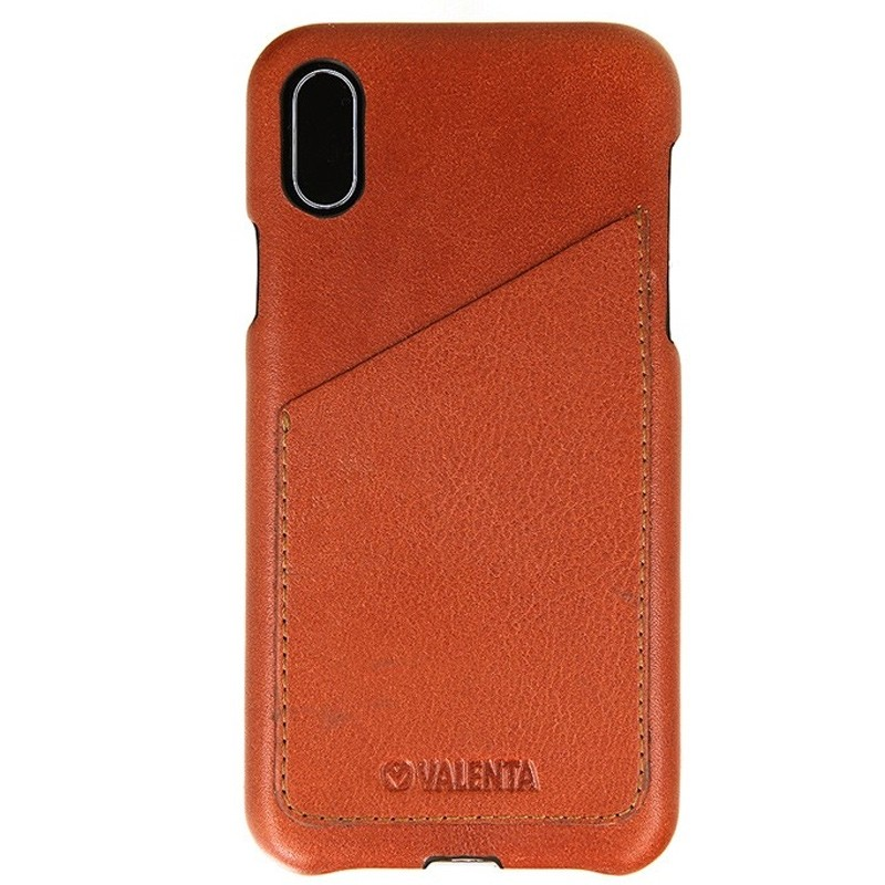 Valenta Back Cover Classic Luxe iPhone X/Xs Brown - 1