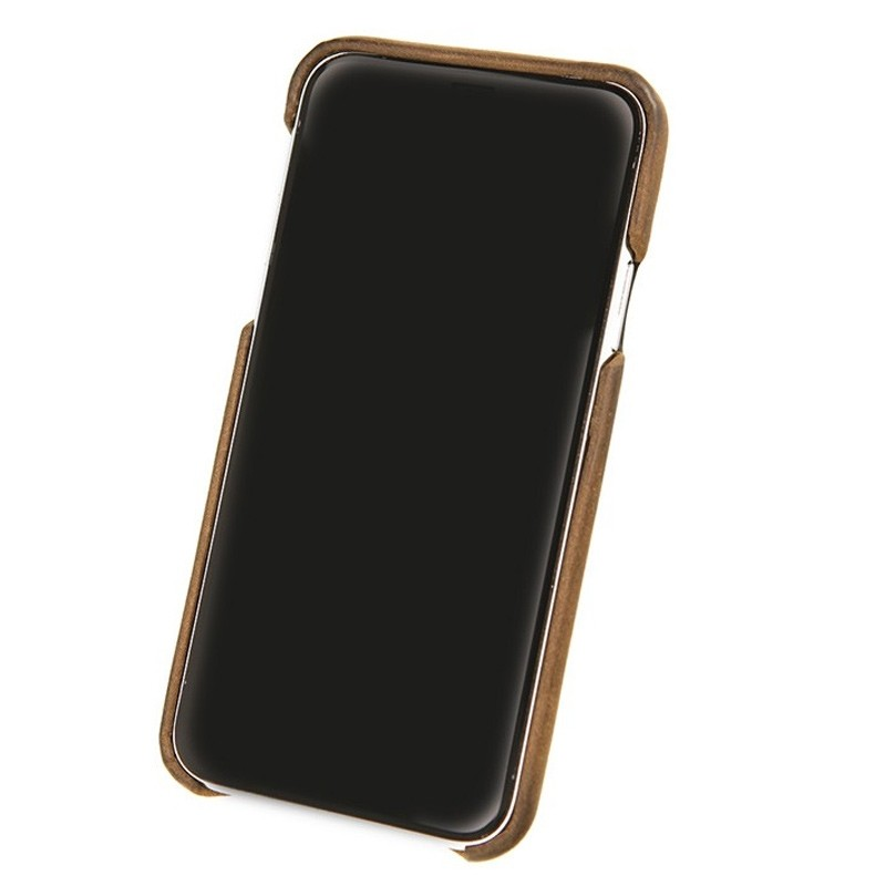 Valenta Back Cover Classic Luxe iPhone X/Xs Vintage Brown - 3