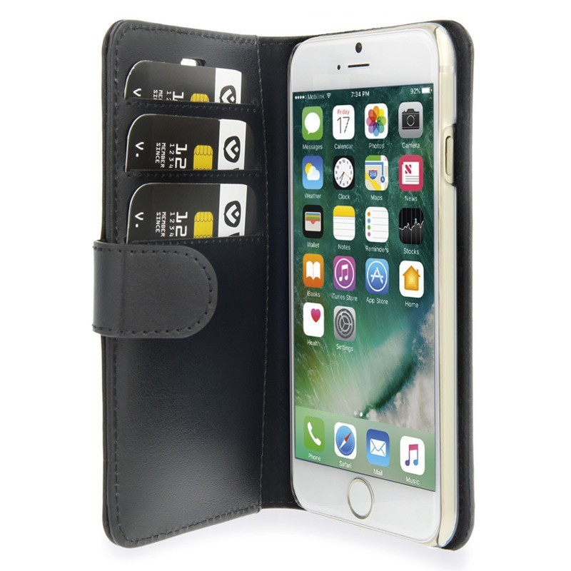 Valenta Book Cover Classic Luxe iPhone 7 Black - 1