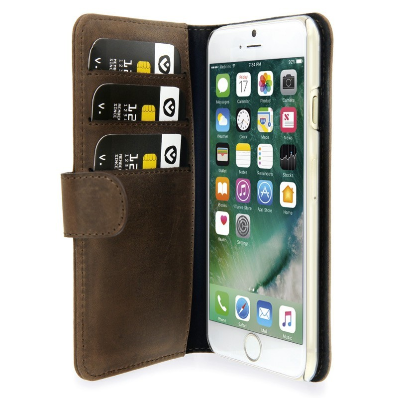 Valenta Book Cover Classic Luxe iPhone 7 Vintage Brown - 1
