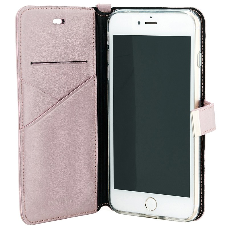 Valenta - Premium Booklet iPhone 8 Plus/7 Plus rose gold 03