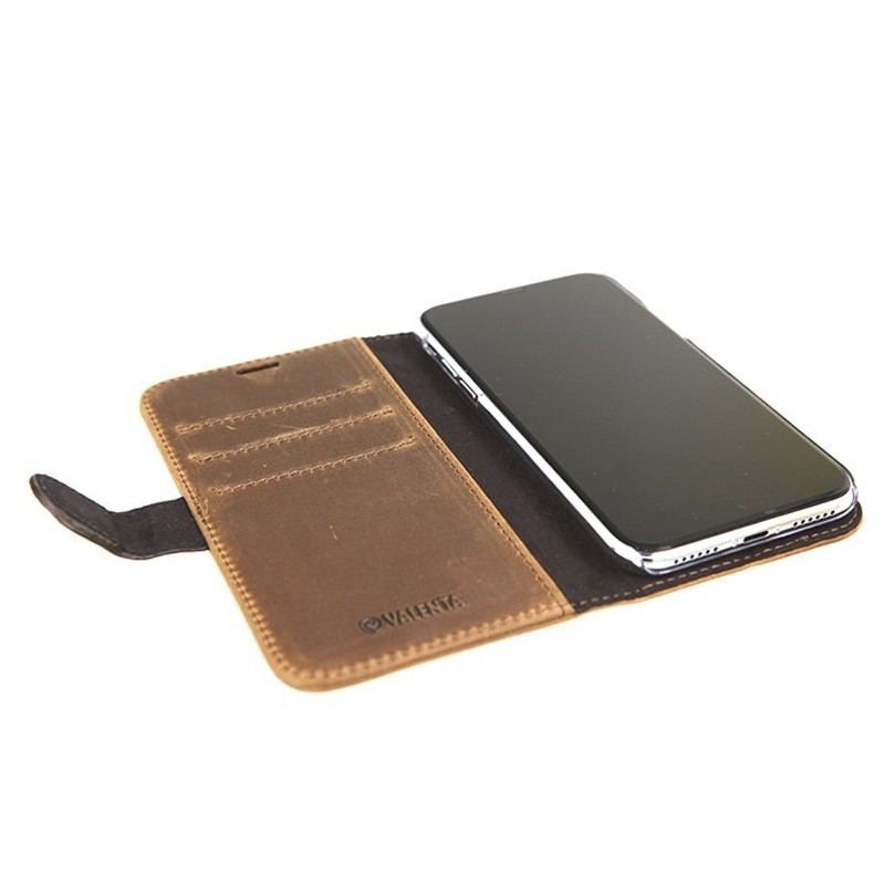 Valenta Booklet Classic Luxe iPhone X/Xs Vintage Brown - 4