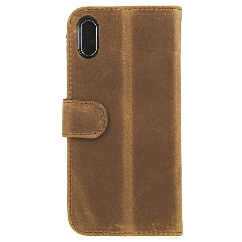 Valenta Booklet Classic Luxe iPhone XS Max Hoesje Vintage Bruin 02