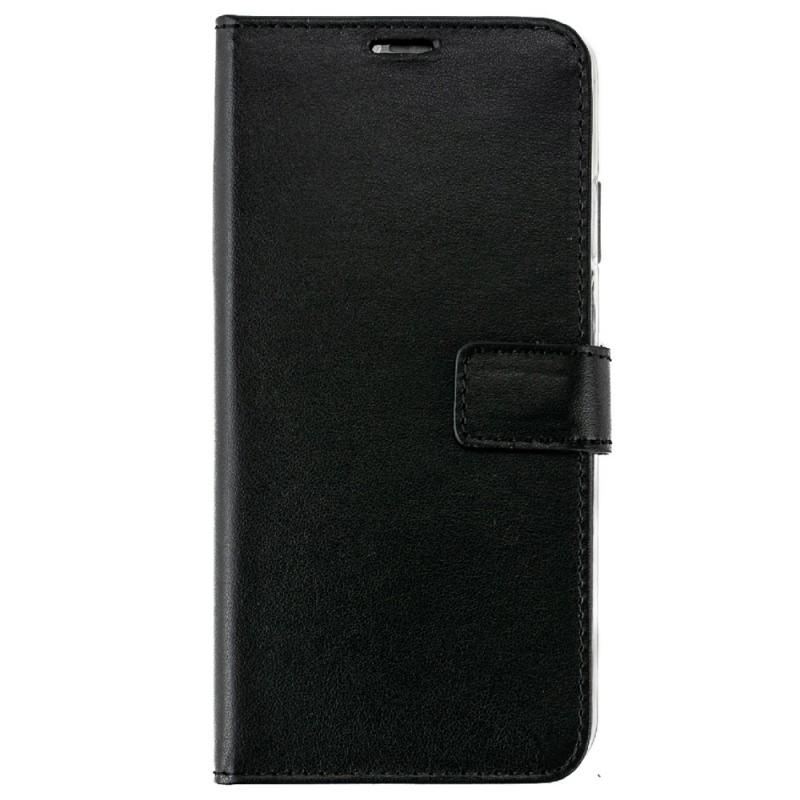 Valenta Booklet Leather Gel Skin iPhone XS Max Zwart 01