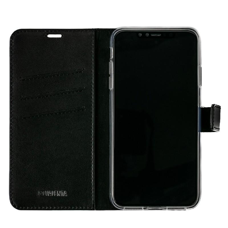 Valenta Booklet Leather Gel Skin iPhone XS Max Zwart 03
