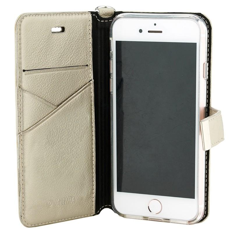 Valenta Premium Booklet iPhone 8/7 gold 03