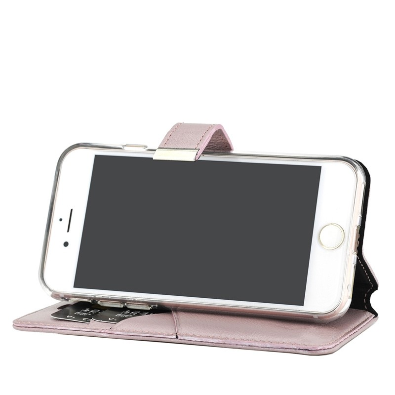Valenta Premium Booklet iPhone 8/7 rose gold 04