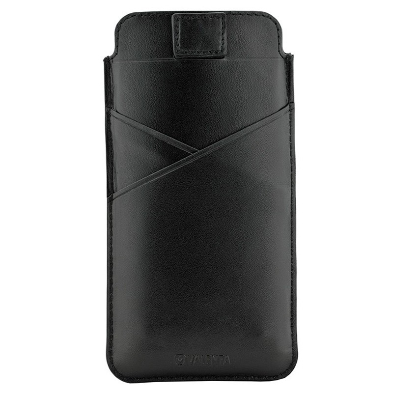 Valenta Pocket Premium iPhone XS Max Sleeve Zwart 01