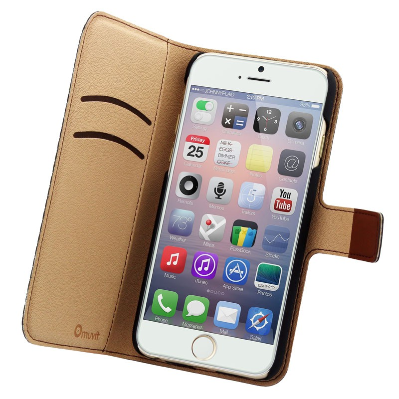 Muvit Wallet Case iPhone 6 Plus Brown - 2