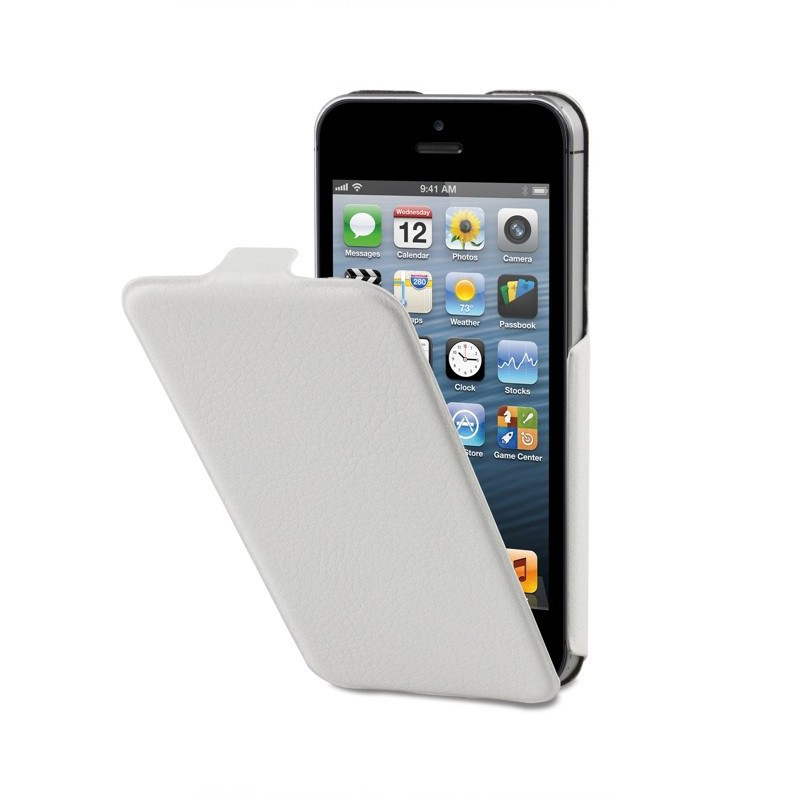 Xqisit UltraThin FlipCover iPhone 5/5S White - 1