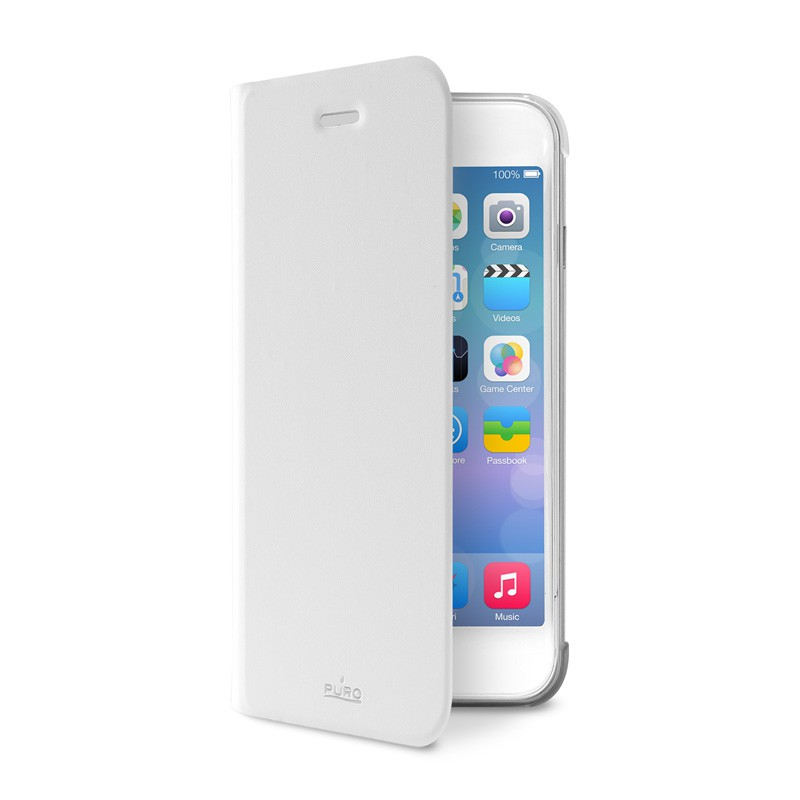 Puro Eco Leather Wallet iPhone 6 White - 4