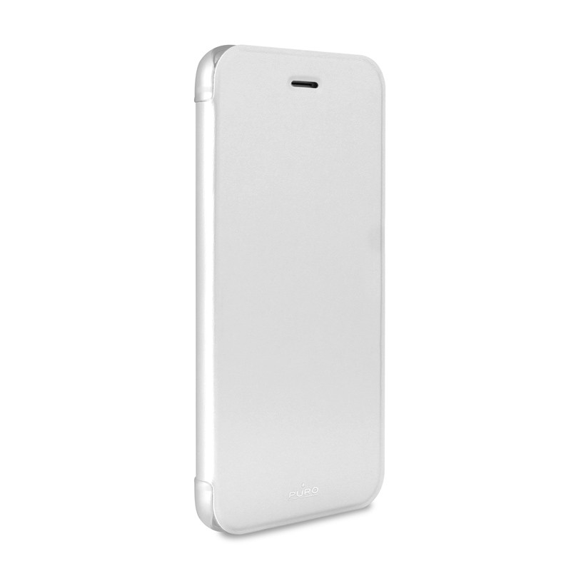 Puro - Eco Leather Wallet iPhone 6 Plus White - 4