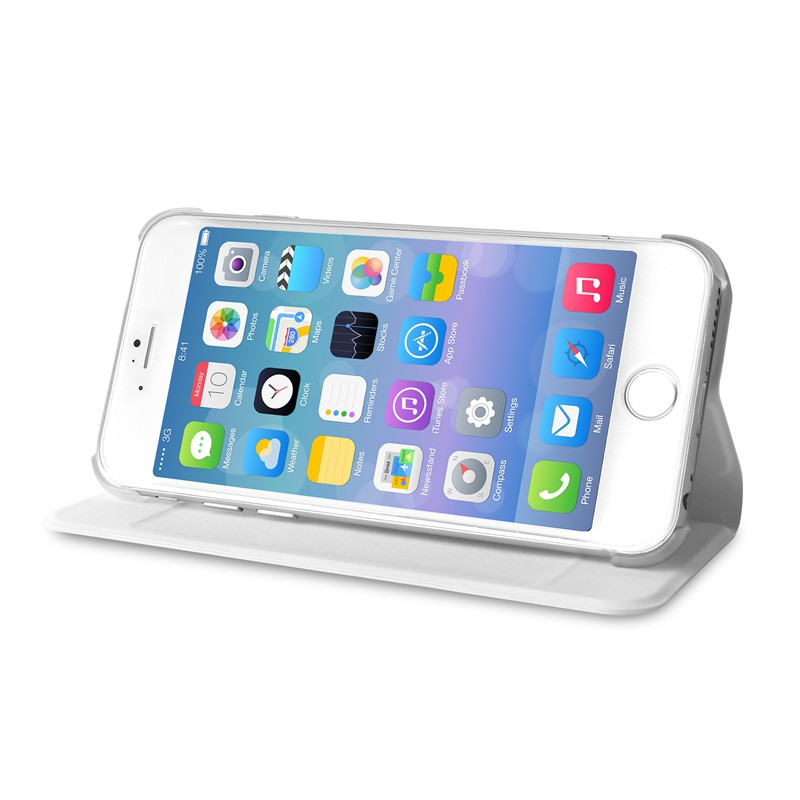 Puro Eco Leather Wallet iPhone 6 White - 5