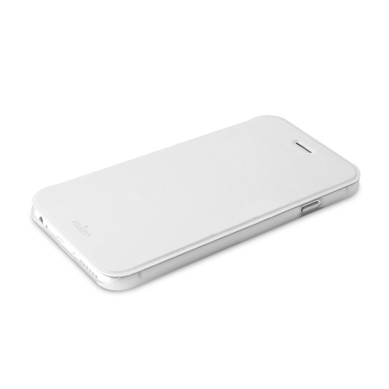 Puro - Eco Leather Wallet iPhone 6 Plus White - 6