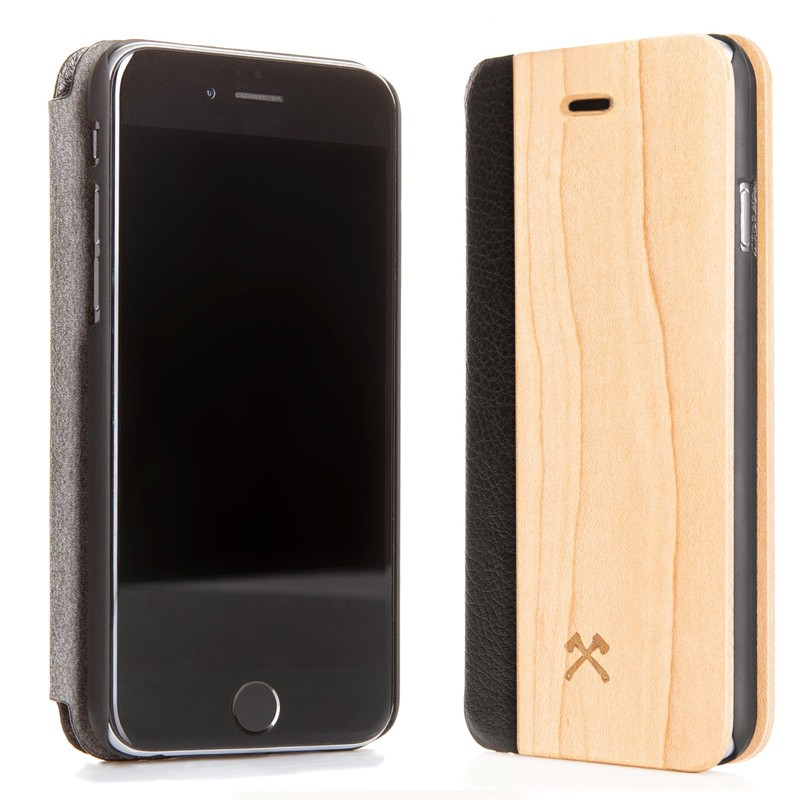 Woodcessories - EcoCase FlipCover iPhone 5/5S/SE Maple 02