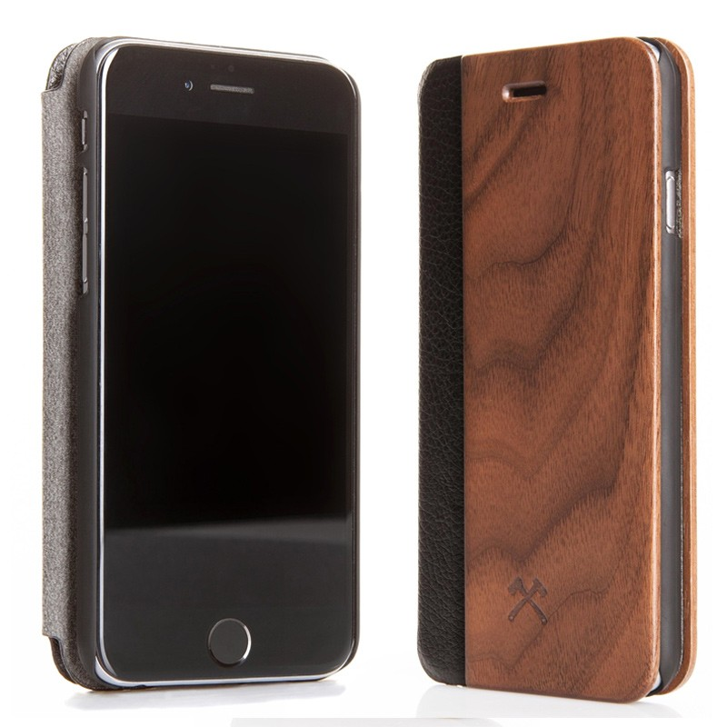 Woodcessories - EcoCase FlipCover iPhone 7 Walnoot 02