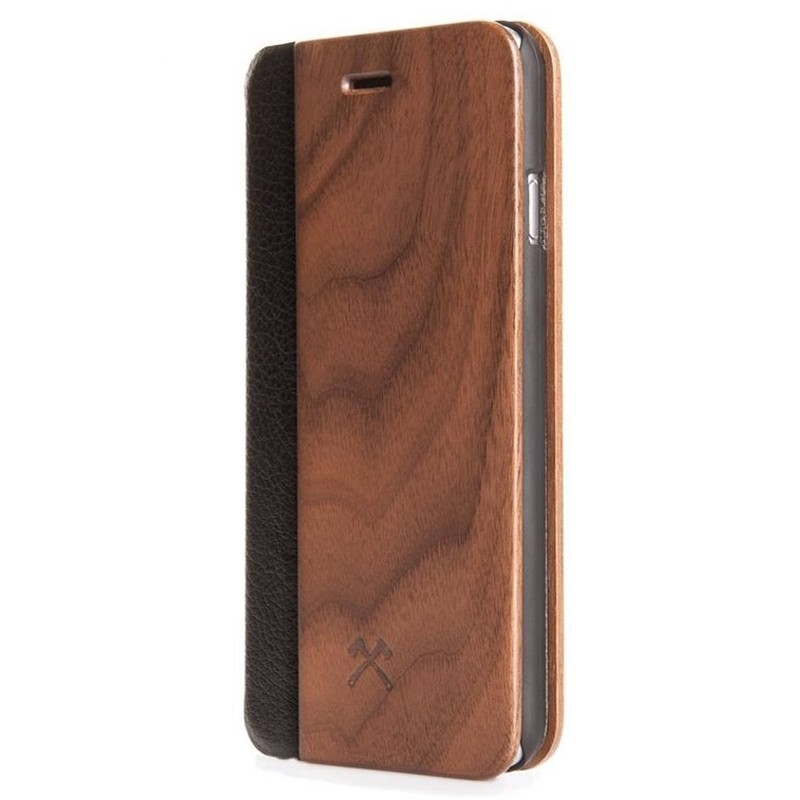 Woodcessories EcoFlip iPhone XS Max Houten Hoesje Walnoot 03