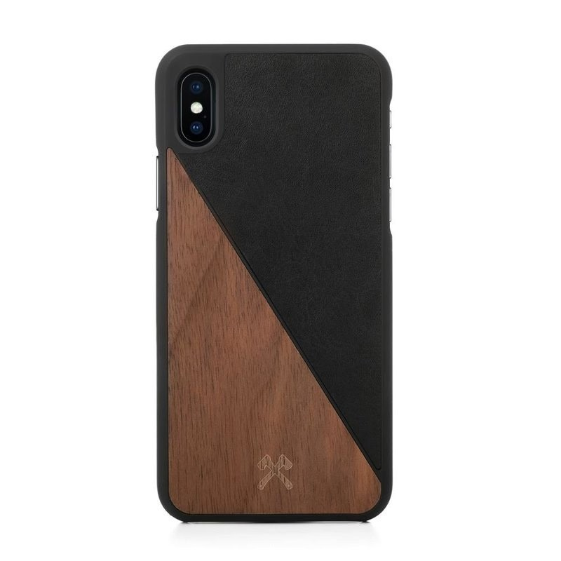 Woodcessories EcoSplit  iPhone X/Xs Walnut/Black - 1