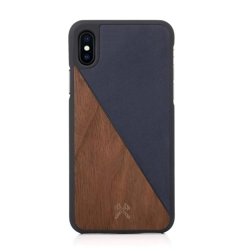 Woodcessories EcoSplit  iPhone X/Xs Walnut/Navy - 1