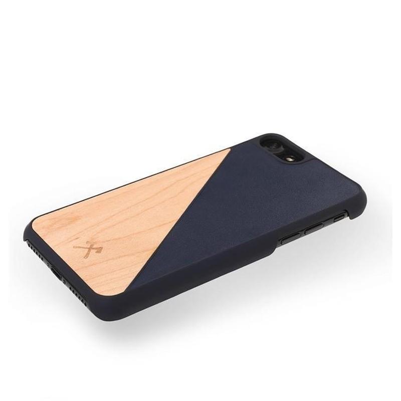 Woodcessories EcoSplit iPhone XR Hoesje Hout Esdoorn Blauw 03