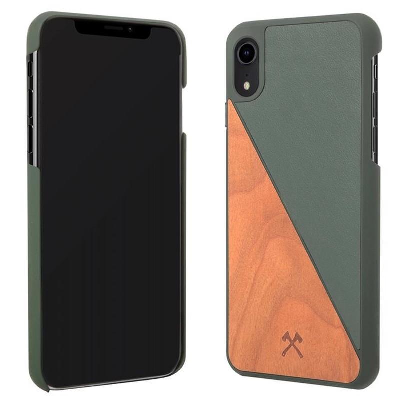 Woodcessories EcoSplit iPhone XR Hoesje Hout Kersen Groen 02