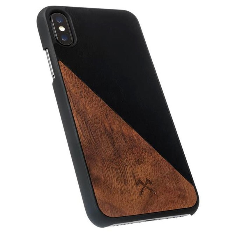 Woodcessories EcoSplit iPhone XR Hoesje Hout Walnoot Zwart 03