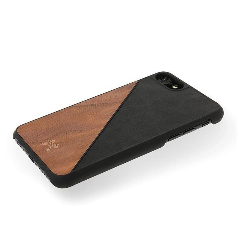 Woodcessories EcoSplit iPhone XR Hoesje Hout Walnoot Zwart 05