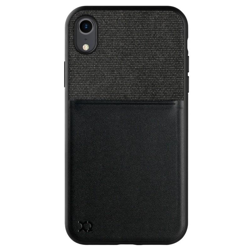 Xqisit Card Case iPhone XR Max Hoesje Zwart Grijs 01