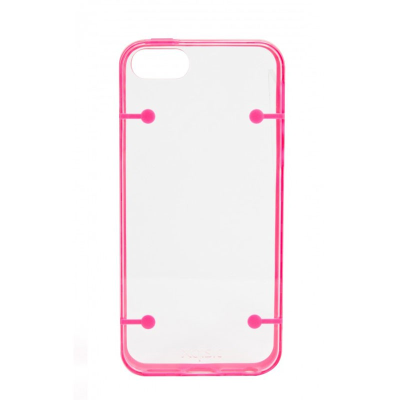 Xqisit iPlate Style iPhone 5 (Pink-Clear) 02