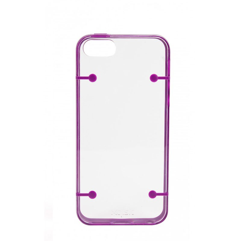 Xqisit iPlate Style iPhone 5 (Purple-Clear) 02