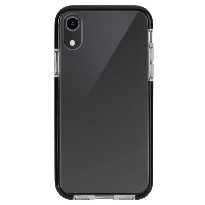 Xqisit Mitico Bumper iPhone XR Hoesje Zwart Transparant 01