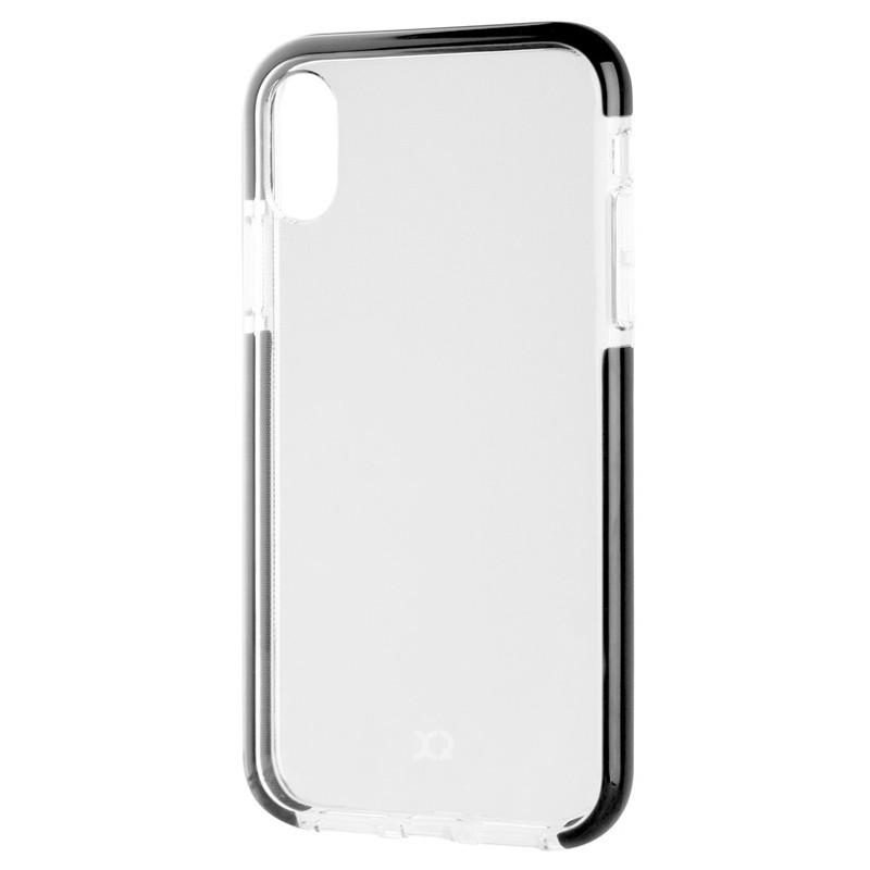 Xqisit Mitico Bumper iPhone XR Hoesje Zwart Transparant 03