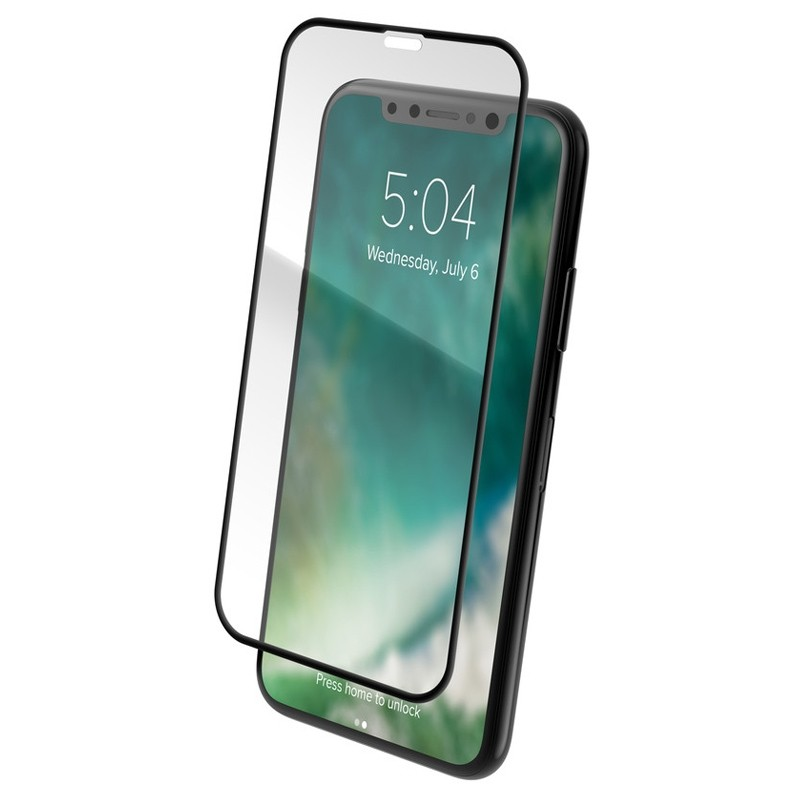 Xqisit Edge-to-Edge iPhone XR Screen Protector Transparant Zwart 02