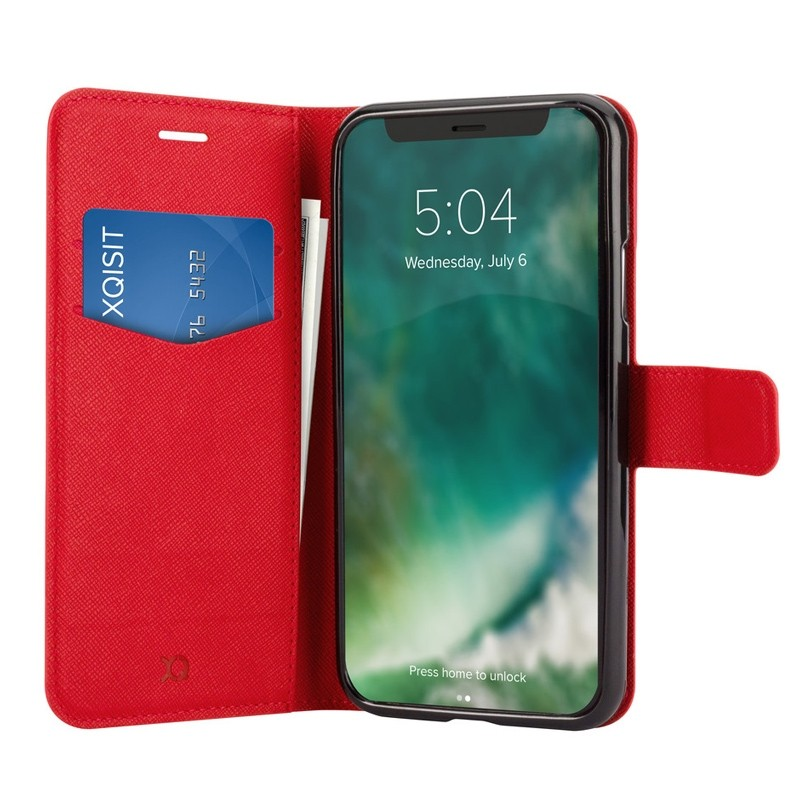 Xqisit Wallet Case Viskan iPhone XR Rood 03