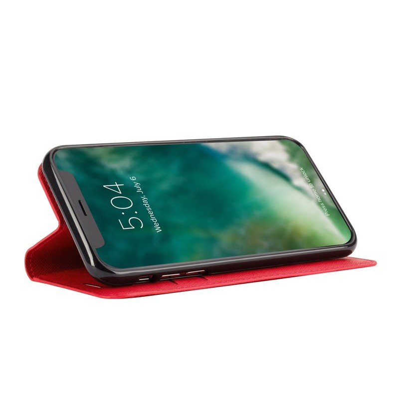 Xqisit Wallet Case Viskan iPhone XR Rood 04